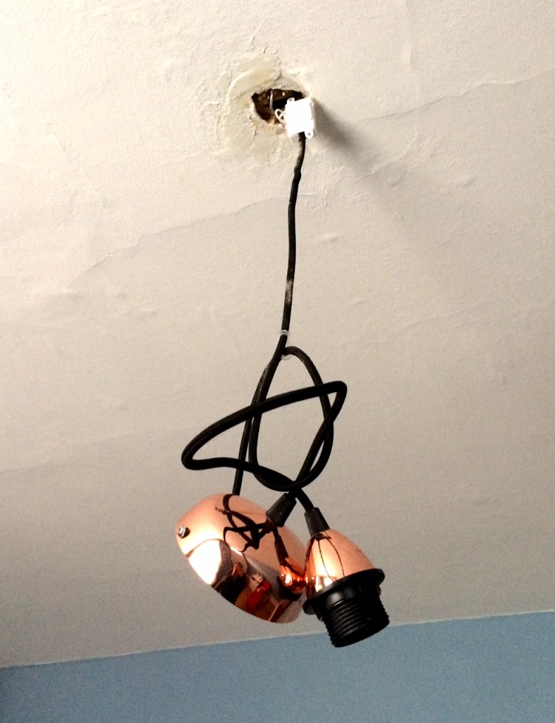 Our arty light fitting.