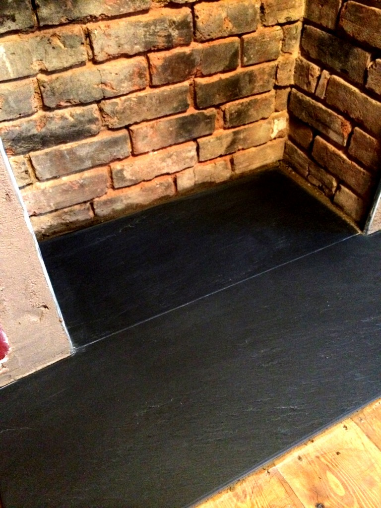 cleaned and varnished bricks and lovely slate
