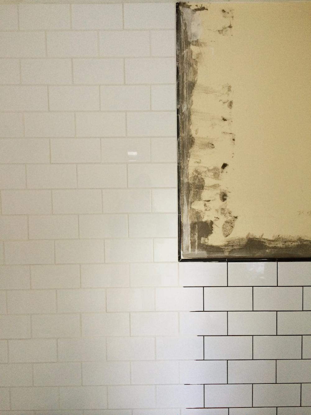 bathroom building: week two