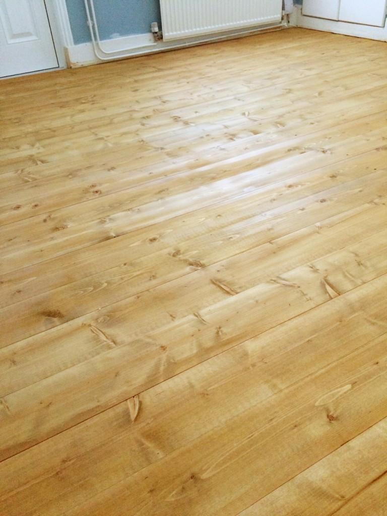Livingroom Floor Varnished
