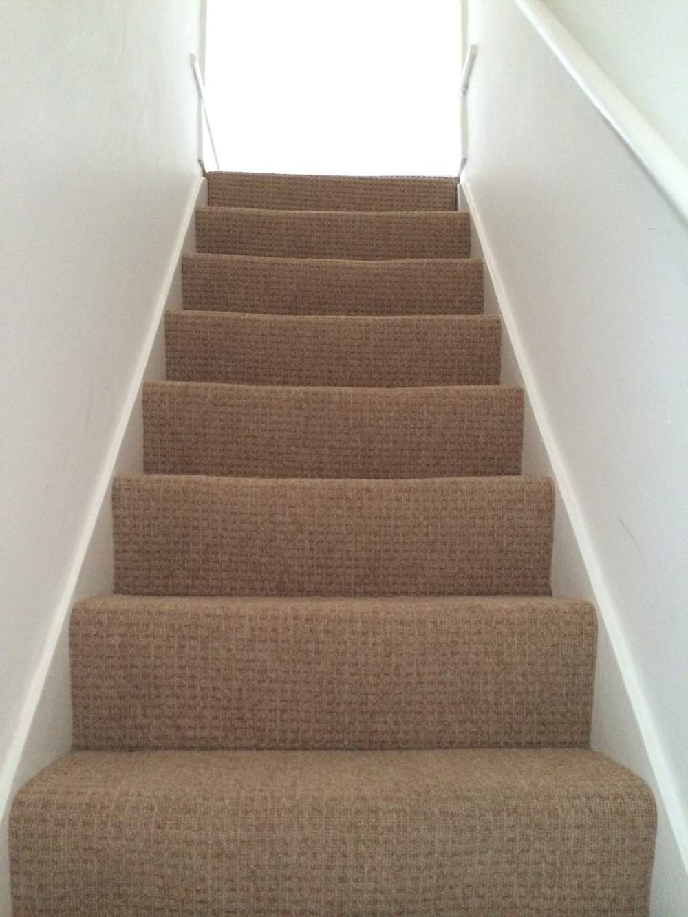 before: carpeted stairs