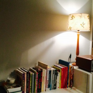 The lampshade that now looks lovely.