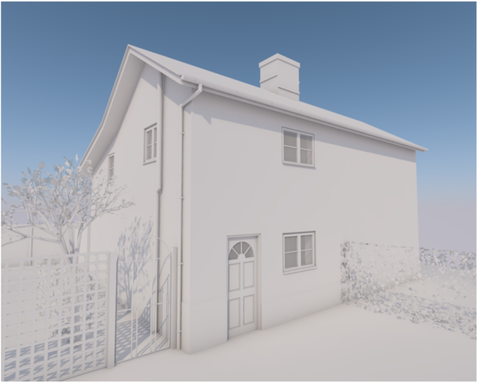 architect render of the house